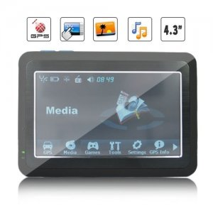 MST Processor 4.3 Inch HD touchscreen GPS Navigation with 2GB Card